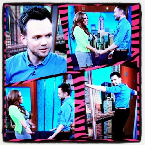 Did u guys see #JoelMcHale on @wendyshow today! He was HILARIOUS! Love him  (Taken with instagram)