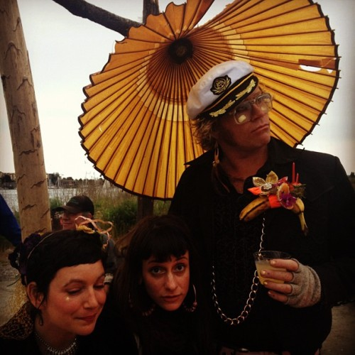 Tropical psychedelic Fellini style birthday at the tea house for the fabulous Sansa asylum. So what (Taken with instagram)