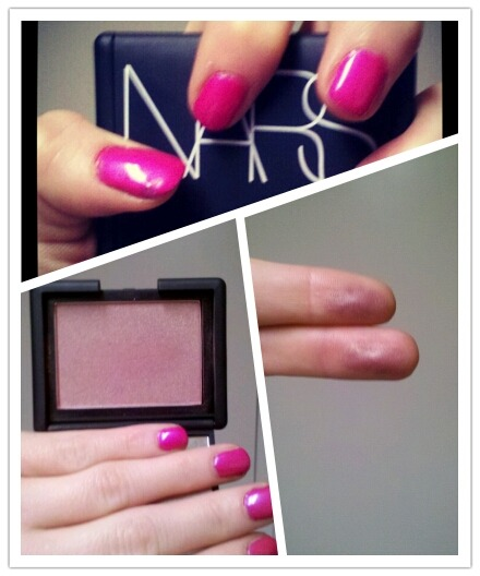 "Nars blush in ""Sin""  I love this blush. Simple as that. It is a deeper, purpley/plum version of Orgasm with the golden undertone. Since I have fair skin, I use it more as a contouring blush. Basically only using it on the backs of my cheeks. Still… it is gorgeous. However, it is pricey. But I knew what I was getting myself into.   Therefore, Orgasm and Sin are my two favorite blushes at the moment. Their names compliment each other quite well… smh.  Did this little photo collage via Oic Grid… how fun!!   Until next time, my fabulous makeup nerds, Fallon  Follow me on the Twitter machine: @mobilfabulosity   Cheers!"