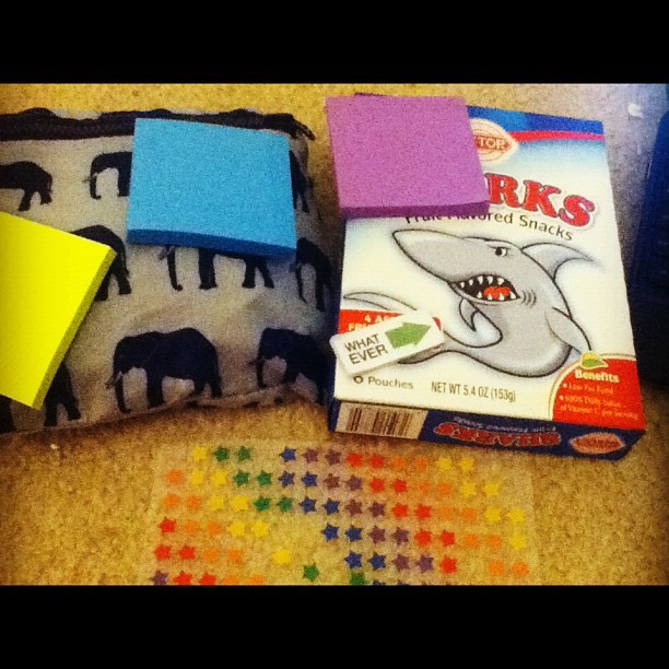 I know how to study for a final. #postit #sharks #stickers #finals (Taken with instagram)