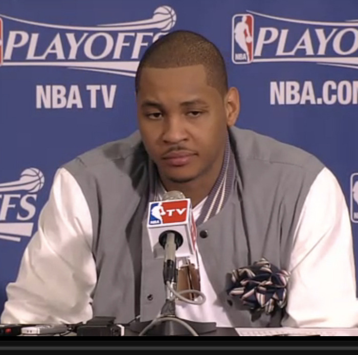 say what you will about carmelo anthony but his shape up is correct