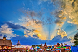 Glorious Sunset Over Fantasyland by Samantha Decker on Flickr.