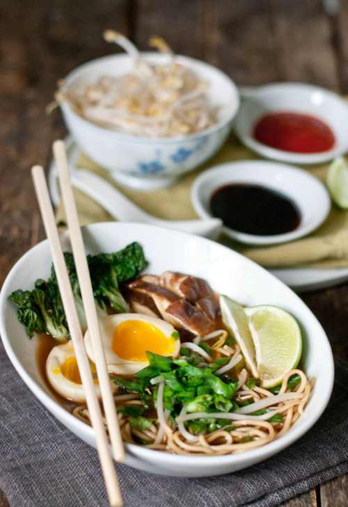 yummyinmytumbly:  Red Miso Ramen with Soft Boiled Egg and Shiitake