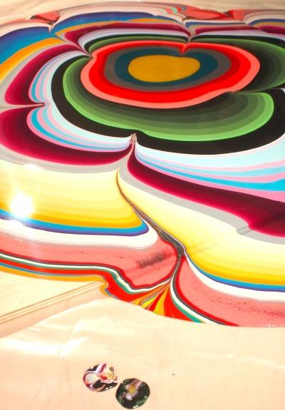 evachen212:  Holton Rower painting and two accidental blobs of color that were really pretty too