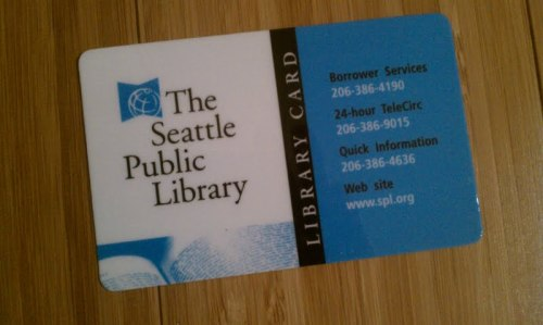 A library card: The best piece of plastic a girl (or boy for that matter) can own.