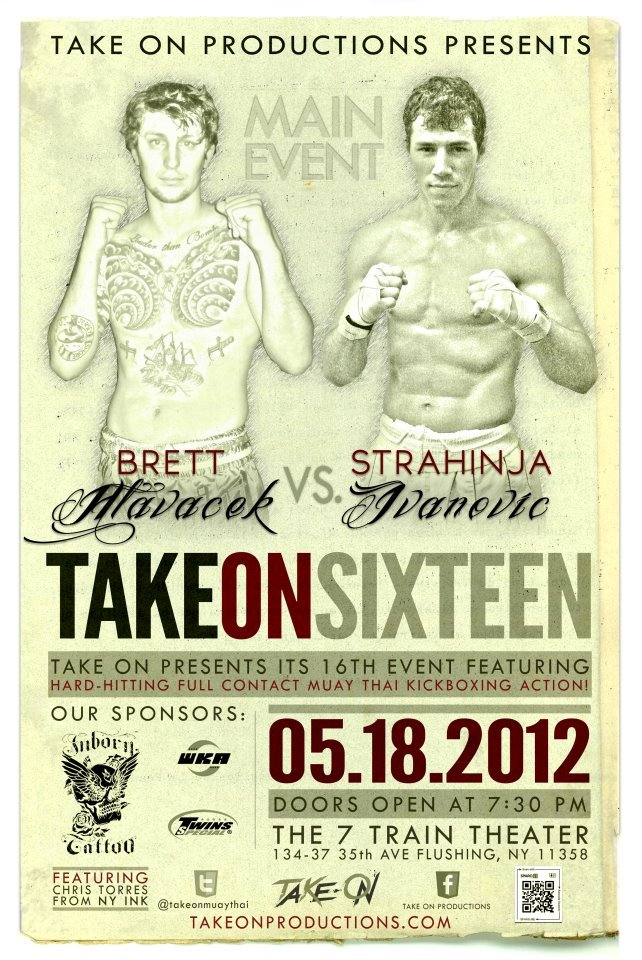 I will be fighting on this card on May 18th. If you are in Nyc you should come support.