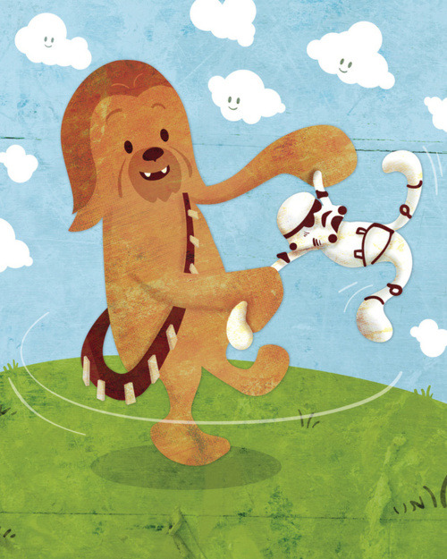 Lil' Chewie and his Stormtrooper by Josh Ferrin