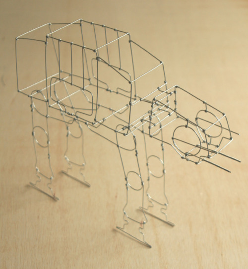 AT-AT Wire Sculpture by Jakobi Art Works