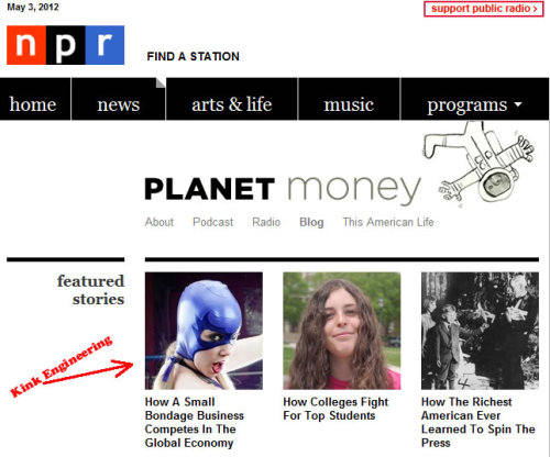 We're a FEATURED ARTICLE on the NPR planet money blog!   Awesome.