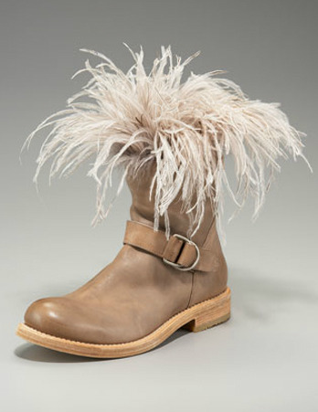 Going along with the feather theme… this time ostrich… Brunello Cucinelli.