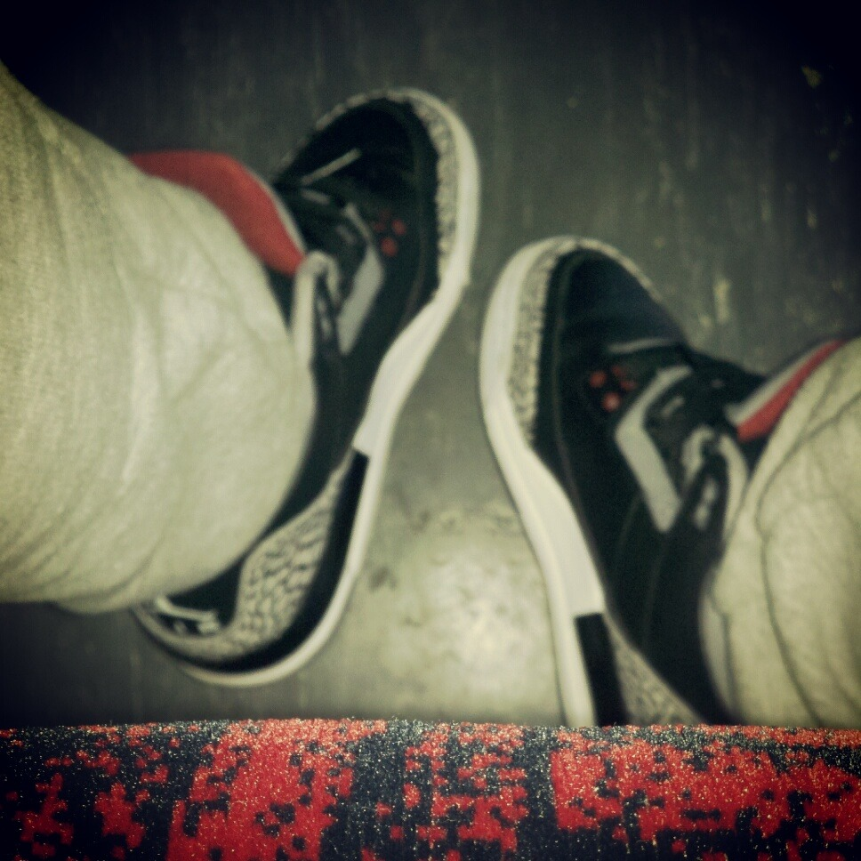 April 27th, 2012 Day 118 of 366  Cement 3's on my feet make my cypher complete.