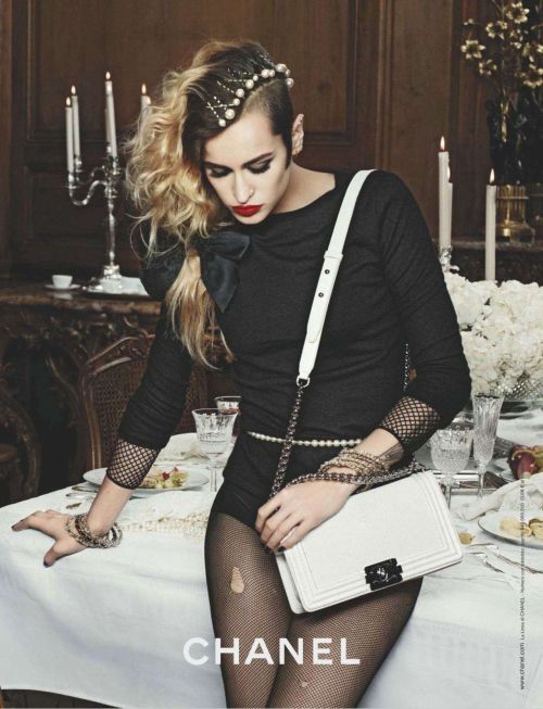 suicideblonde:  Alice Dellal photographed by Karl Lagerfeld for Chanel, Spring 2012