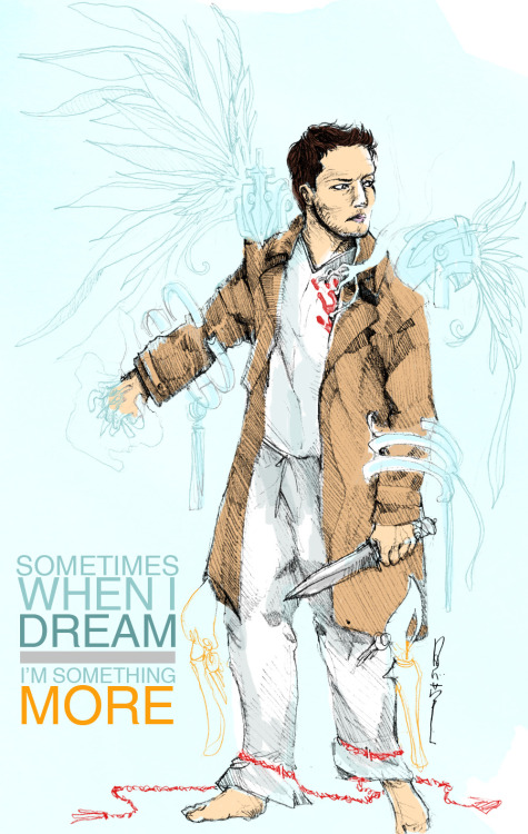 regression | castiel | supernatural fanart | pencils and photoshop  Excited over the next episode! :D