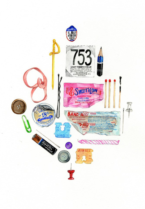 "andrewharlow:  'obsessive compulsive assortment' 2011 15"" x 20"" pencil & acrylic gouache on paper, janice wu"