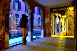 ysvoice:  | ♕ |  Portico under palazzo - Venice  | by © Pierre