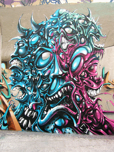 Graffiti Detail - Paris 2012 by freaQ on Flickr.
