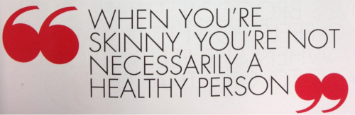 A quote from Jillian Michaels :) Remember, health always comes first!