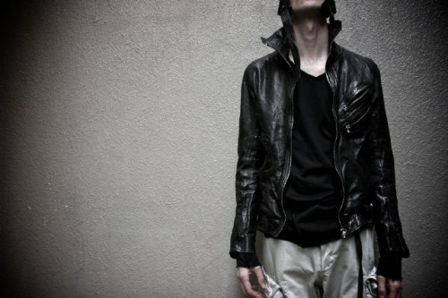 brycity:  Julius FW09 Jut Neck Leather