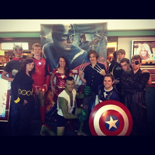 Avengers. #avengers #hulk #ironman #thor #blackwidow #hawkeye #nickfury #captainamerica #marvel #wolverine #comicbooks #comics (Taken with Instagram at Goodrich Willow Knolls 14)