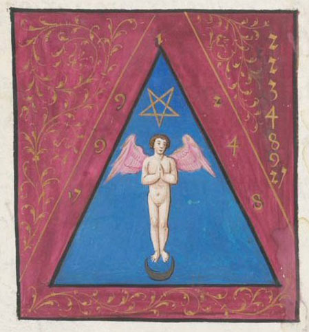 demonagerie:  Geneva, Bibliothèque de Genève, Ms. fr. 167, detail of f. 74r. Jehan Thenaud, Introduction à la Cabale. 1536.