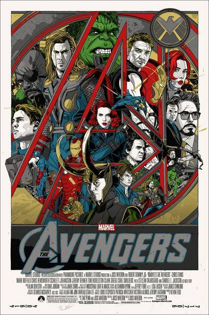 #TheAvengers - Limited edition poster by MONDO (via Poster locandina 'The Avengers Teaser Artwork MONDO Poster USA 1' @ ScreenWEEK)
