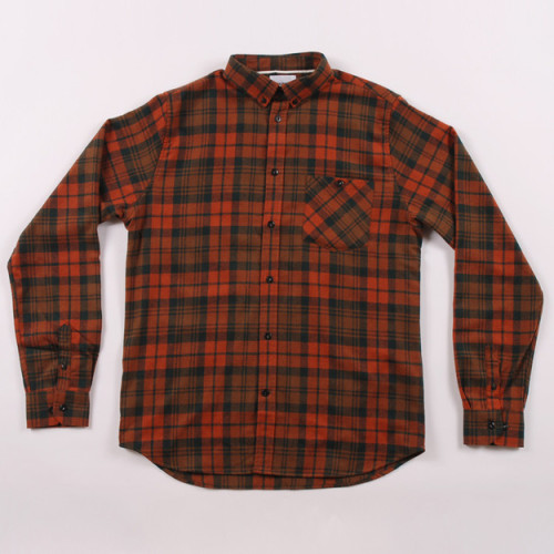 streetstylemarket:  Norse Project Anton Wool Shirt - Burnt Orange Check