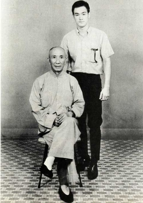 millenniumfalcor:  Yip Man with student, Bruce Lee