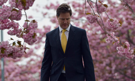 Nick Clegg thought he'd bought still water, but it was really sparkling water, and he wasted an hour shaking it to get all of the bubbles out.  https://twitter.com/#!/sadnickclegg