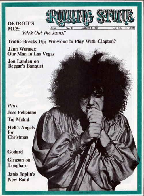 theswingingsixties:  The MC5 on the cover of Rolling Stone, January 1969.