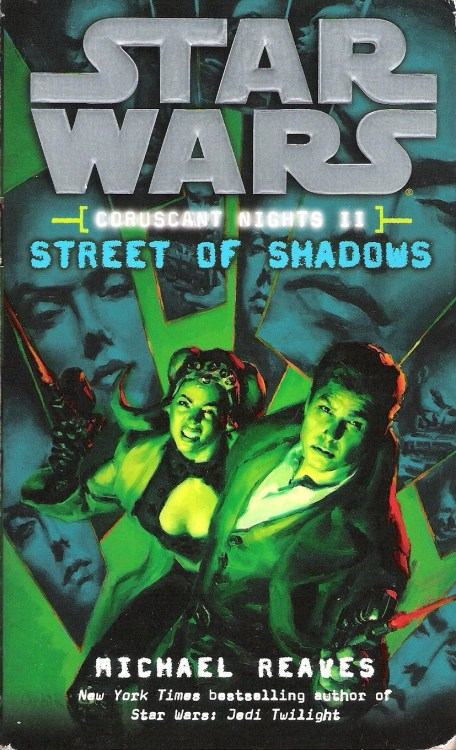 "Coruscant Nights II: Street of Shadows by Michael Reaves (2008, Del Rey) The first Coruscant Nights novel, which I reviewed last week, had a very hard boiled/noir vibe. The second, Street of Shadows, is a straight-up murder mystery that hits all of the beats of classic American detective fiction.  Jax Pavan and his team agree to help a member of the pheromone-producing Zeltron species, Dejah Duare (who I couldn't help but imagine looking and sounding a bit like a space-alien version of Barbara Stanwyck). Dejah wants to get off Coruscant with her lover, a well-known light sculptor and possible political target of the Empire. Soon after Jax signs on to help the couple out, however, Dejah's partner is found dead in his apartment.  What follows is a very solid mystery, complete with suspects, entanglements with the police, and red herrings. To complicate matters, Darth Vader is still looking for Jax, this time sending the bounty hunter Aurra Sing after him.    Running parallel to these events is another subplot, this one involving Padme Amidala's former security chief, Gregar Typho.    Typho, apparently, had strong and unrequited feelings for Padme, and has vowed to discover the truth of her death and exact vengeance on the responsible party. His quest takes him surprisingly far in the right direction, leading him to Coruscant and Darth Vader, who he believes killed both Padme and Anakin Skywalker. The influence of this story on the A-plot is mostly incidental, but it is tragic and rather touching nonetheless, and I'd say the book is better with it than it would be without it.  Street of Shadows continues the story that its predecessor began, but also functions well as a stand-alone novel, and at only three hundred pages with fairly large print, it's a quick read that doesn't overstay its welcome. The mystery is sufficiently puzzling, if you're into guessing at this sort of thing, and its solution is a nifty twist on a whodunit cliché.  Next week, we'll look at the third and currently final book in the Coruscant Nights series, Patterns of Force.  One last note: Much as the Roman and Eastern Rite branches of Christianity celebrate holidays like Christmas and Easter on different calendar dates, the Star Wars fan community appears to be divided into two sects. The first, seemingly consisting of the majority of fans, celebrates ""Star Wars Day"" on the fourth of May—today. The basis for this is, of course, a fairly obvious pun. I personally am of the persuasion that May 25th, the anniversary of the original Star Wars film's release, is ""Star Wars Day.""  But, ultimately, we should put our differences aside; ever since I started this project, every day is, to one extent or another, a Star Wars day (I read at least a few chapters of a Star Wars book a day to stay caught up for my reviews). And, as I have pointed out many times while discussing this, any excuse to watch Star Wars is a good one. So, while I really do think that pun is lame, I hope you enjoy watching the films or whatever commemoration you choose. May the Force be with you."