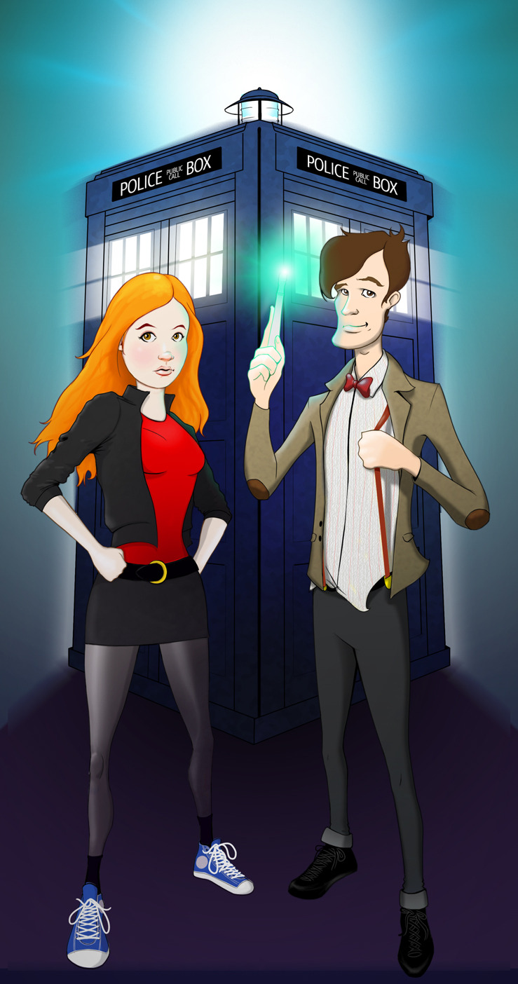 the Doctor and Amy by Jiri Langer aka Omnidipus visit my deviant.art profile