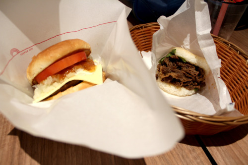 savvvie:  MOS Burger with Michelle this afternoon *u*  City is such a convenient place for it to be.