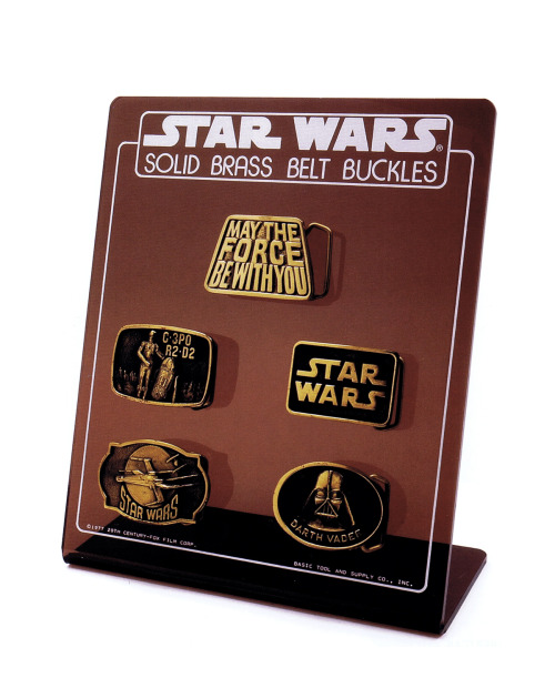 Happy May the 4th. Star Wars belt buckles circa 1978 :: scanned from Star Wars: 1000 Collectibles :: Abrams Books :: 2008