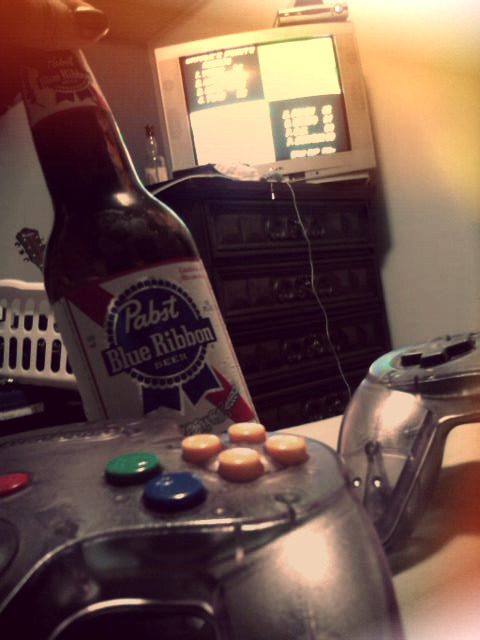 our every night > your date night.PBR, N64, Mario Kart.