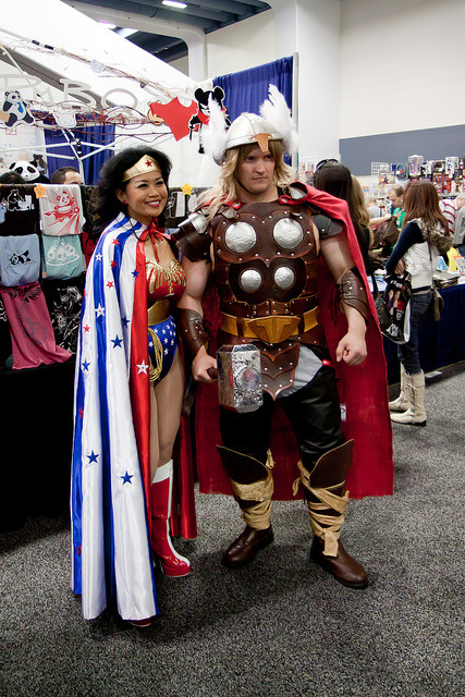 wonder woman and thor by saikofish on Flickr.Via Flickr: Wonder Woman and Thor. Second favorite couples cosplay at Wondercon