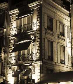 Façades at night by Gregory Bastien on Flickr.