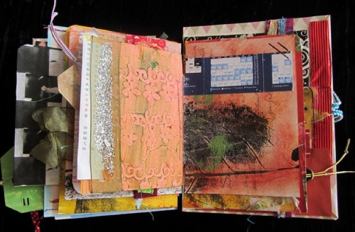 Journal made from used greeting cards. by bohemiannie on Flickr