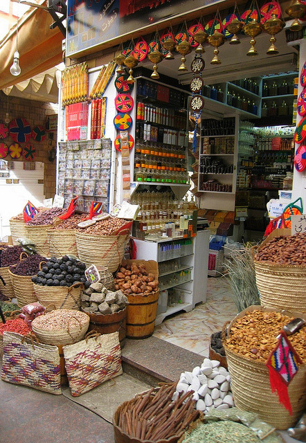 A spice shop in the souk  Aswan, Egypt (via klg19)