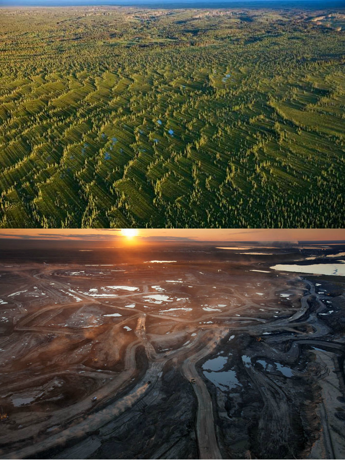 Canadian Oil Sands, Before & After