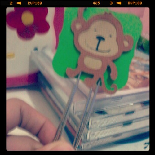 hehe monkey bookmark :)) xx (Taken with instagram)