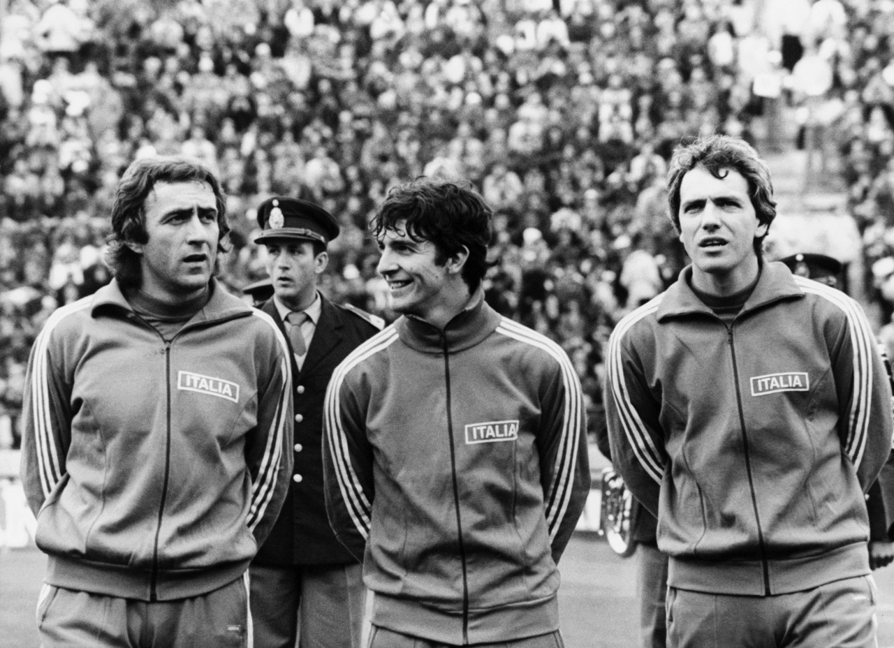 Mauro Bellugi, Paolo Rossi and Roberto Bettega, World Cup 1978.