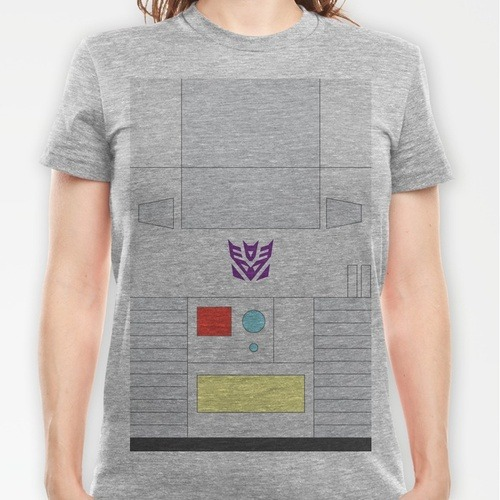 Of course no one would want to look like Megatron or Starscream yeah? Buy the tee here  Megatron tee