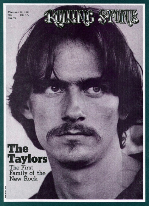 superseventies:  James Taylor on the cover of Rolling Stone, January 1971.