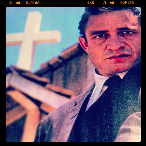 The balance of #good and #evil in the eyes of #johnnycash. #gospel vs. #blues  (Taken with instagram)