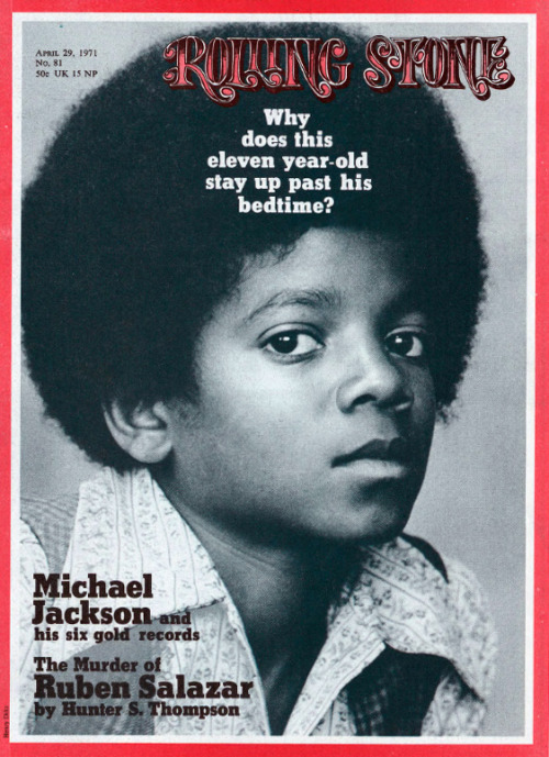 11-year old Michael Jackson on the cover of Rolling Stone, Apriil 1971.