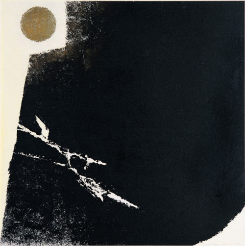 mondonoir:  CHEN Ting-shih, Day and Night #66, Woodblock print, 1981