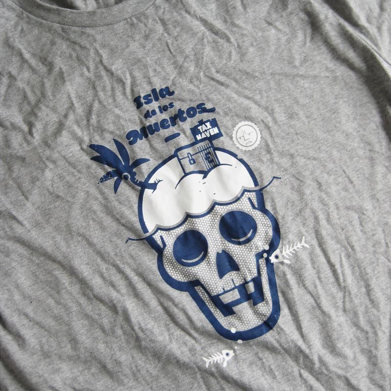 Isla de los Muertos. 2-Colour-Shirt-Design for Guppy-Design.