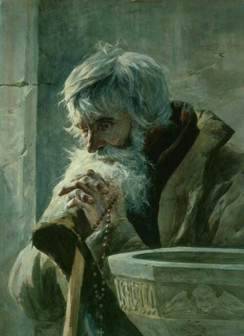 christianitas:  Praying Old Man, Julian Fałat.