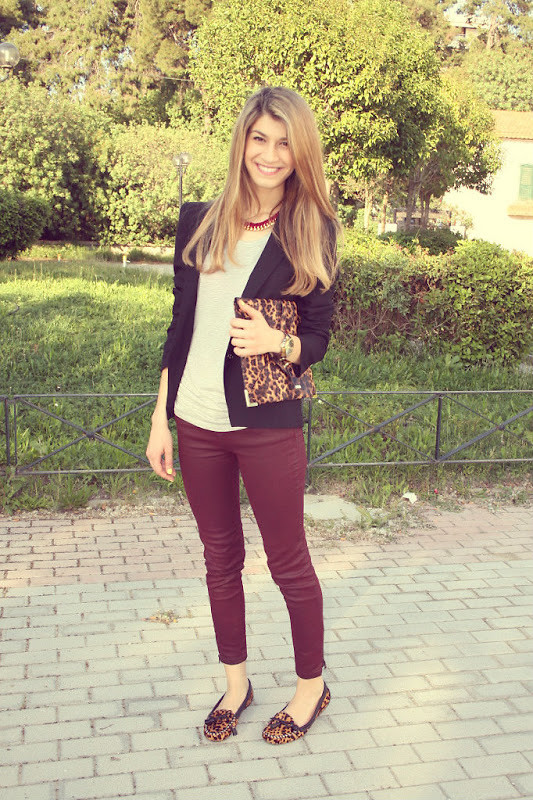 lookbookdotnu:  Burgundy In Spring?  (by Savina Velivanaki)