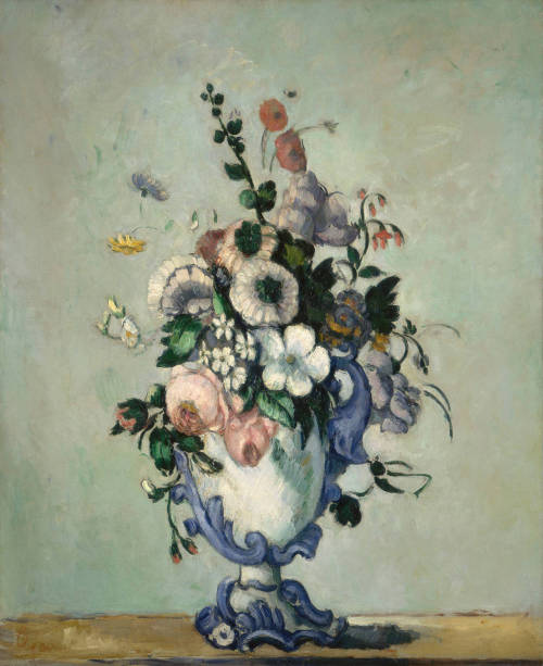 Paul Cézanne - Flowers in a Rococo Vase, 1876. Oil on canvas